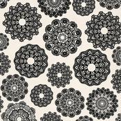 Crochet Doilies Spot Varnish Paper - Always & Forever - KaiserCraft