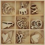 Wedding Flourishes Wooden Shapes - Always & Forever - KaiserCraft
