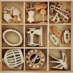 Antiques Flourishes Wooden Shapes - Mademoiselle - KaiserCraft