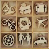 Travel Flourishes Wooden Shapes - Just Landed - KaiserCraft