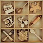 Cooking Flourishes Wooden Shapes - Bon Appetit - KaiserCraft