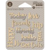 Happy Printed Wood Veneer - Jillibean Soup
