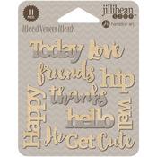Happy Printed Wood Veneer - Jillibean Soup
