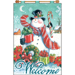 "16""X24"" - Welcome Snowman Jeweled Banner Kit"