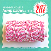 Raspberry - Avery Elle Hemp Twine 65ft