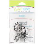 Coloring Book Butterflies - Eyelet Outlet Shape Brads 12/Pkg