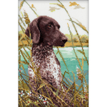 """7""""X10.5"""" 14 Count - Hunting Counted Cross Stitch Kit"""