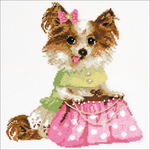"9.75""X9.75"" 14 Count - Chihuahua Counted Cross Stitch Kit"