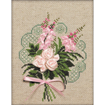 "7""X9"" 14 Count - Bouquet Of Tenderness Counted Cross Stitch Kit"