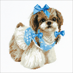 "9.75""X9.75"" 14 Count - Shih Tzu Counted Cross Stitch Kit"
