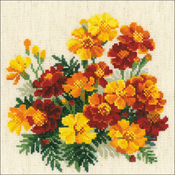 """8""""X8"""" 14 Count - Marigolds Counted Cross Stitch Kit"""