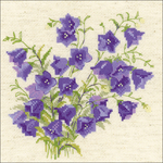 """8""""X8"""" 14 Count - Bellflower Counted Cross Stitch Kit"""