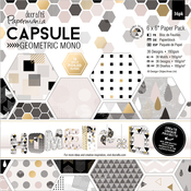 """Geometric Mono - Papermania Double-Sided Paper Pack 6""""X6"""" 36/Pkg"""