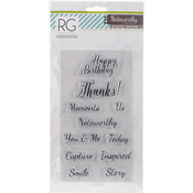 """Words, Up To 2.25""""X1"""" - Noteworthy Stamps 11/Pkg"""