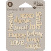 Today Printed Wood Veneer Words - Jillibean Soup