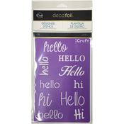 Hello - Deco Foil Stencils