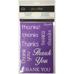 Thanks - Deco Foil Stencils
