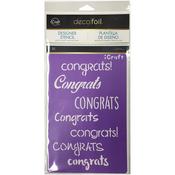 Congrats - Deco Foil Stencils