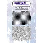"Tiny Background - IndigoBlu Cling Mounted Stamp 5""X4"""