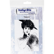 "Valerie - IndigoBlu Cling Mounted Stamp 5""X4"""