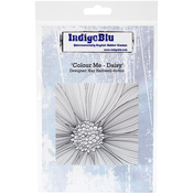 """Colour Me Daisy - IndigoBlu Cling Mounted Stamp 5""""X4"""""""
