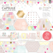 """Geometric Neon - Papermania Double-Sided Paper Pack 12""""X12"""" 36/Pkg"""