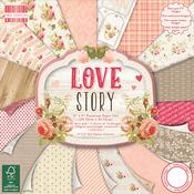 "Love Story - First Edition Premium Paper Pad 8""X8"" 48/Pkg"