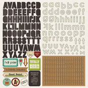 Real Genius Alpha Sticker Sheet - Photoplay