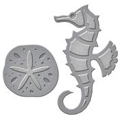 Seahorse & Sand Dollar - Spellbinders Shapeabilities Die D-Lites