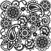 "Paisley - Viva Decor Large Background Stencil 11.4""X11.4"""