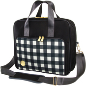 Black Plaid - Crafter's Shoulder Bag