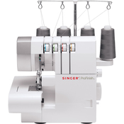 White W/Gray Accents - Singer Serger Overlock Machine