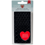 Black Dots, Assorted Sizes - Sticky Thumb Dimensional Adhesive Foam 275/Pkg