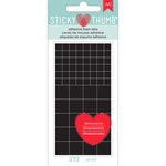Black Tabs, Assorted Sizes - Sticky Thumb Dimensional Adhesive Foam 272/Pkg