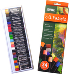 Assorted Colors - Pro Art Oil Pastels 24/Pkg