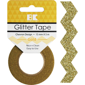 Gold Chevron - Best Creation Designer Glitter Tape 15mmX5m