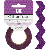 Plum Chevron - Best Creation Designer Glitter Tape 15mmX5m