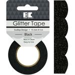 Black Scallop - Best Creation Designer Glitter Tape 15mmX5m