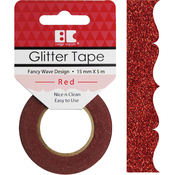 Red Fancy Wave - Best Creation Designer Glitter Tape 15mmX5m