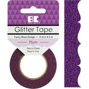 Plum Fancy Wave - Best Creation Designer Glitter Tape 15mmX5m