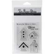"Bless Your Nest - Two Paper Divas Clear Stamps 7""X6.5"""