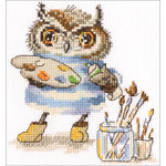 """6""""X6.25"""" 14 Count - Magic Palette Counted Cross Stitch Kit"""