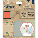 Papermania Geometric Kraft Gift Tags & Stamps Set 16/Pkg