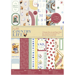 Country Life, Linen Finish - Papermania Ultimate A4 Die-Cuts & Paper Pack 48/Pkg