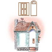 "Cottage - Art Impressions Cottage Stamp & Die Set 7""X4"""