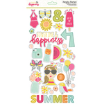Sunshine & Happiness Chipboard Stickers - Simple Stories