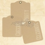 Cheers, Party, Celebrate Kraft Tags - Graphic 45