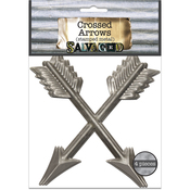 Salvaged Crossed Arrows 4/Pkg