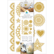 "Doilies Gold - Momenta Vinyl Stickers 4.5""X8"""