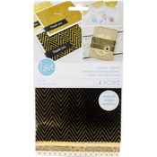 "Gold Foil Fabric & Paper - Momenta Sticker Paper Sheets 5""X9"""